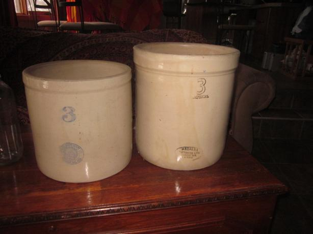 crock pots milk bottles