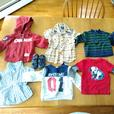 Box of boys clothes with 6-12 month tags