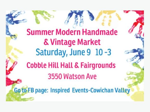 Summer Modern Handmade & Vintage Market - June 9  10 to 3