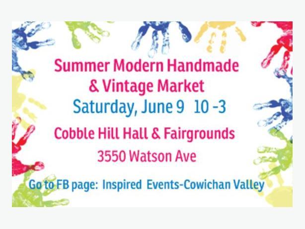 Summer Modern Handmade & Vintage Market  June 9  10 to 3