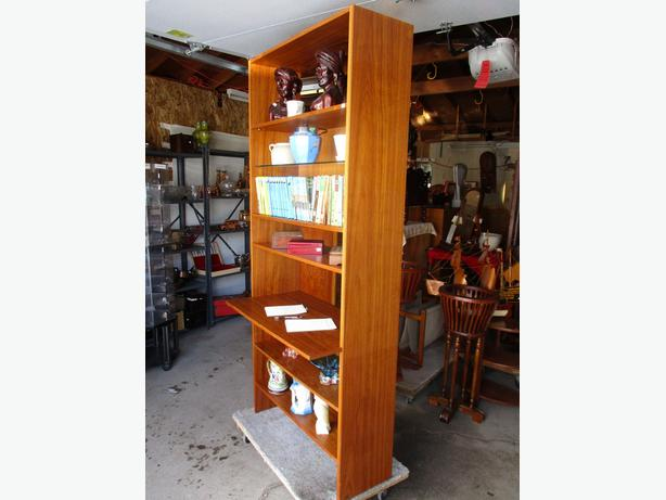 TEAK MID CENTURY BOOKSHELF/WRITING DESK FROM ESTATE