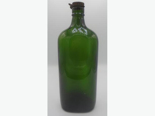 VINTAGE 1930's WHISKEY FLASK BOTTLE w/ KORK-N-SEAL CAP