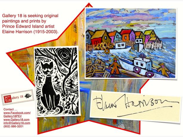 WANTED: Elaine Harrison Paintings & Prints