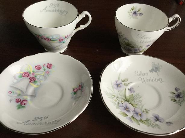 Anniversary teacup and saucer sets