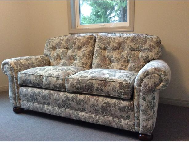 Down filled loveseat
