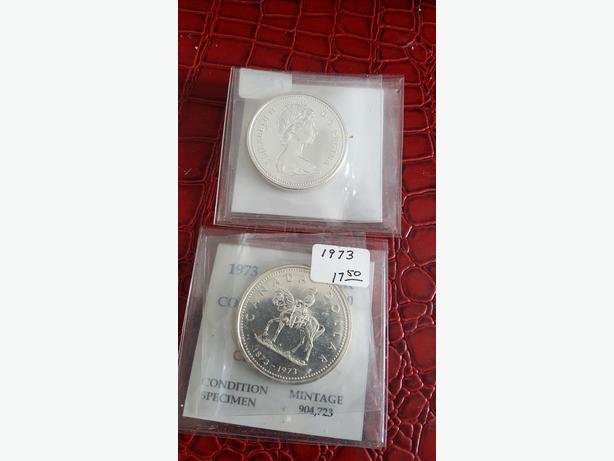 Canada 1973 SILVER Dollar .500 Fine