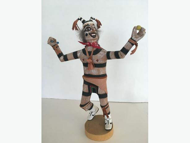 Navajo Clown Handmade Signed by F. Begay Kachina Doll - Collector