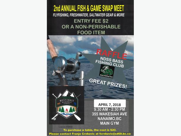 Annual Fish and Game Swap Meet  Tons of fishing tackle for