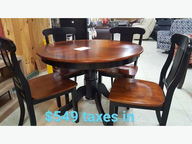 Brand new two tone  kitchen table and chairs set.. 5 piece...taxes in.