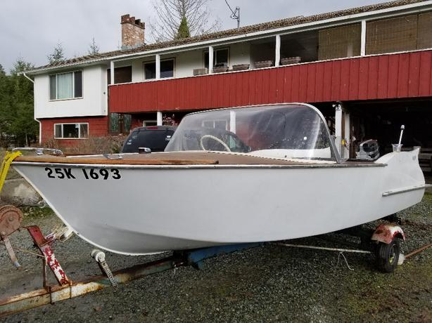 custom handmade retro lake boat