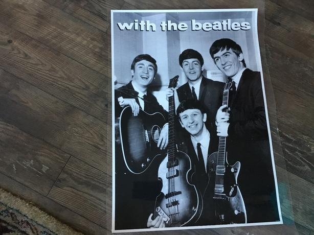 Beatles Poster 24x33 Black White Laminated