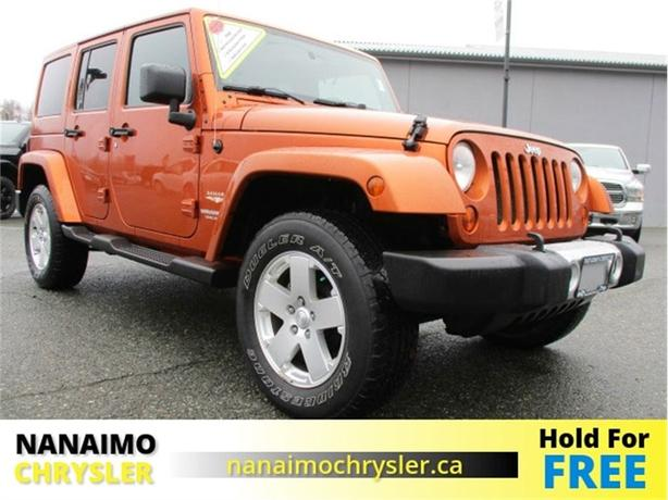 2011 Jeep Wrangler Unlimited Sahara One Owner Low Kilometers