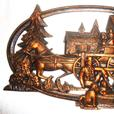 Vintage 1970's Coppercraft Guild - 2 Scenic Wall Plaques
