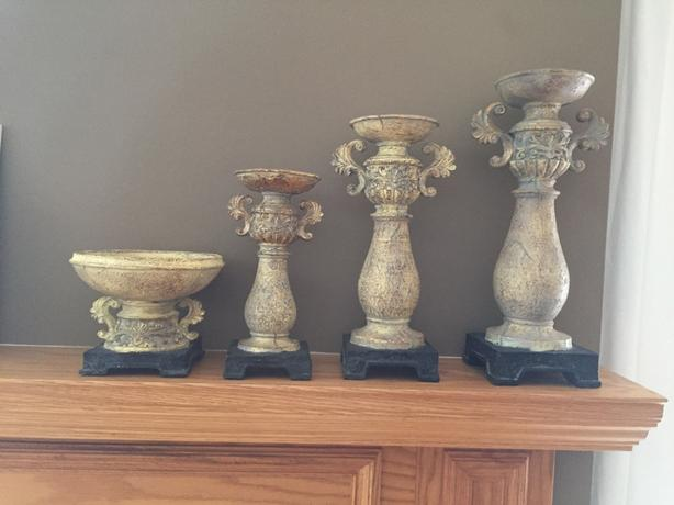 Candle stand/holders and bowl -reduced