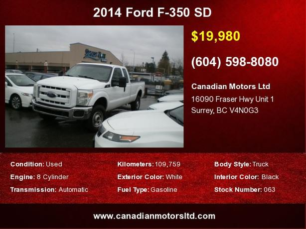 2014 Ford F-350 SD XL Extended Long Bed 4WD
