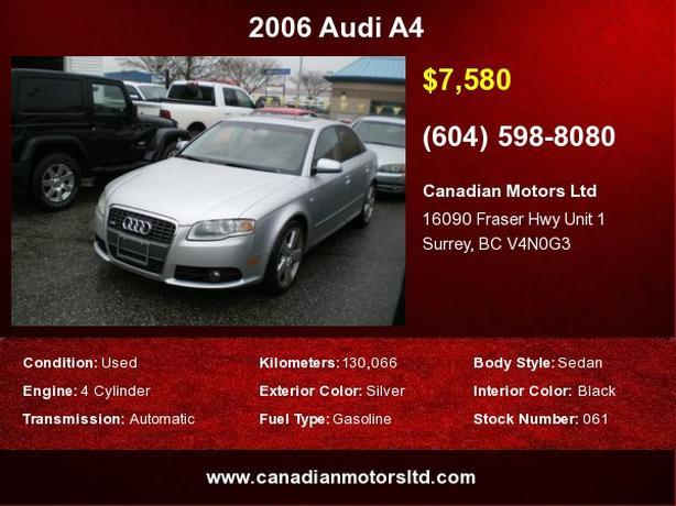 2006 Audi A4 2.0T Quattro S Line