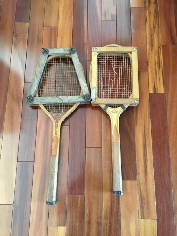 2 vintage tennis rackets