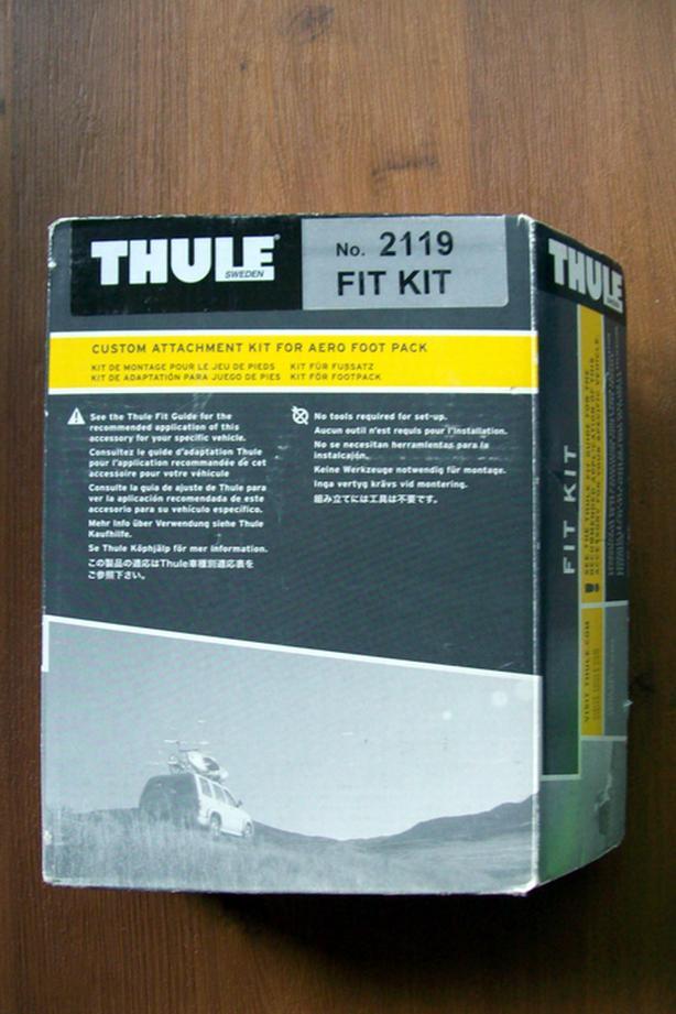 Thule 2119 Fit Kit For Aero Foot