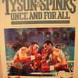 Mike Tyson vs Michael Spinks signed wooden poster