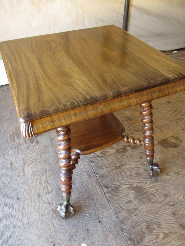 EARLY 1900 CLAWFOOT PARLOR TABLE FROM ESTATE