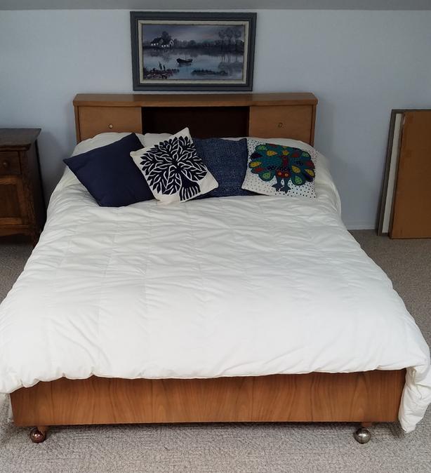 Retro Double Bed Frame Headboard Foot Board Dresser Mirror Tall
