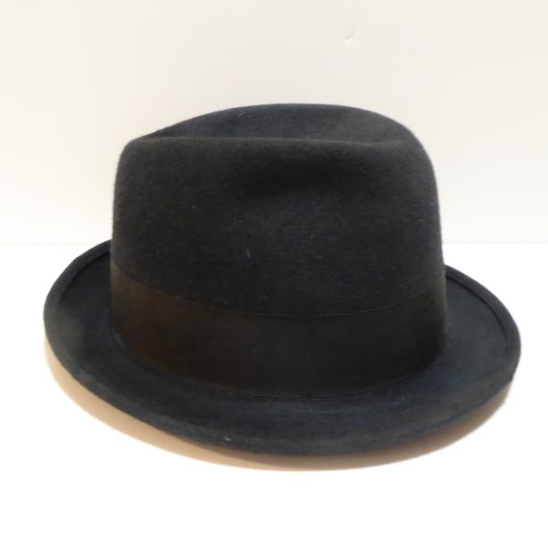 VINTAGE 1940/50s MEN'S STETSON FINE QUALITY FEDORA HAT WITH HAT BOX - MINT