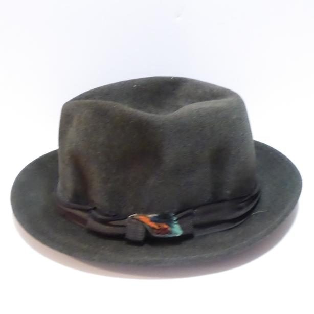 VINTAGE MEN'S 1940/50s DARK GREY/BLACK FEDORA HAT