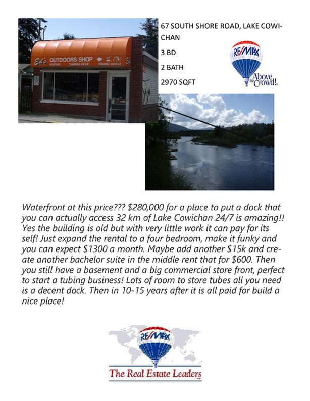 Waterfront property! 67 South Shore Road, Lake Cowichan