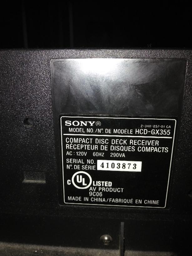 good SONY 3 disc change stereo with speakers