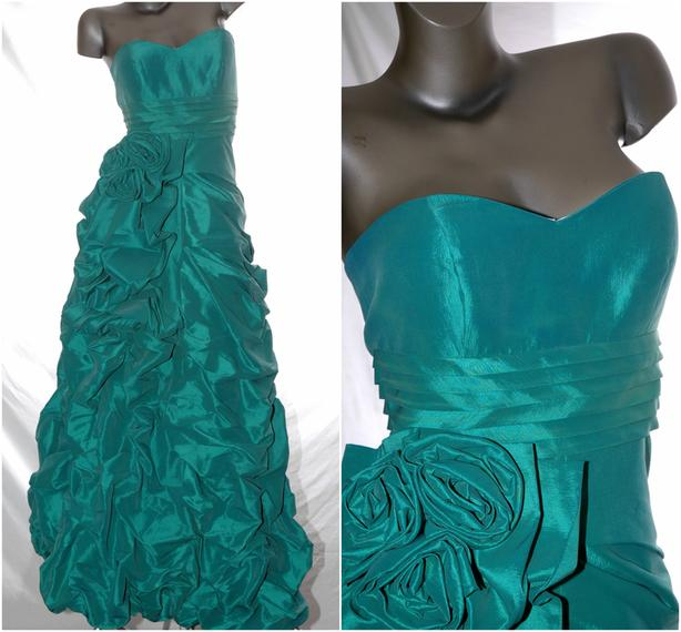 ♥ Emerald Strapless Grad Gown Dress ♥ New With Tag