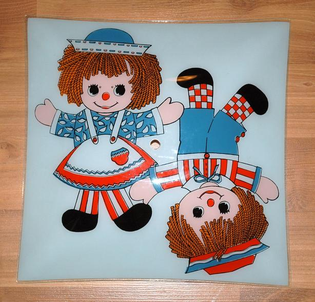 Vintage RAGGEDY ANN & ANDY Ceiling LIGHT SHADE
