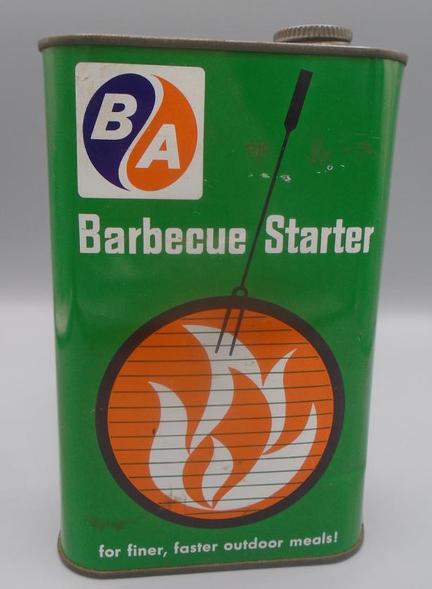 RARE 1967's VINTAGE B/A BARBECUE STARTER (32 OZ.) CAN