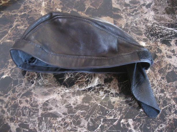 LEATHER SKULL CAP - BRAND NEW