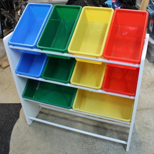 Bin organizer for toys