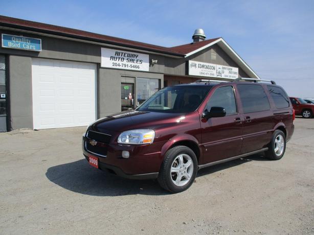 2009  Chevrolet Uplander Ext LT  7 Passenger van with DVD system