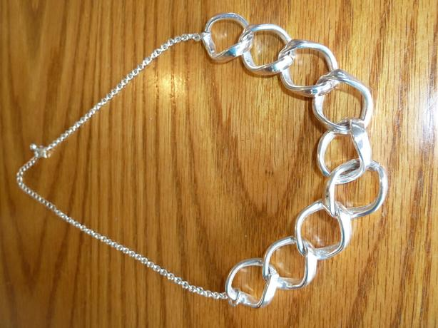 silver chain link necklace 20 inches