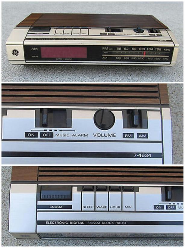 Vintage General Electric Alarm Clock Radio