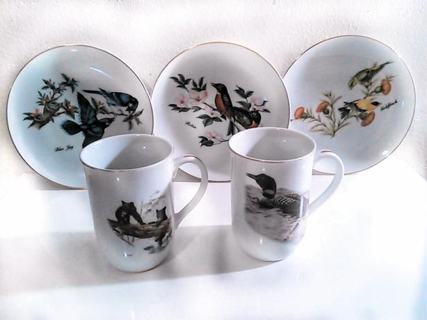 John James &  Glen Loates plate & cup collection