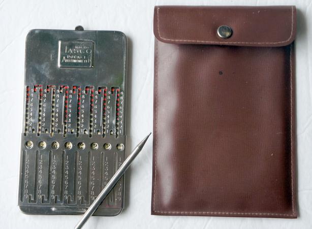 Retro Calculator Tasco Pocket Arithmometer - Slide Adder with stylus