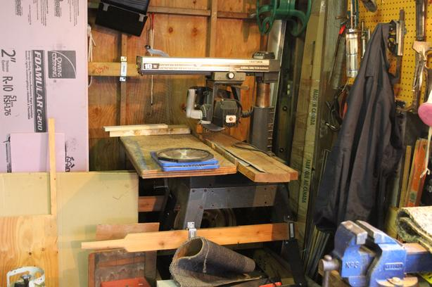 A Craftsman 10 Inch Radial Arm Saw