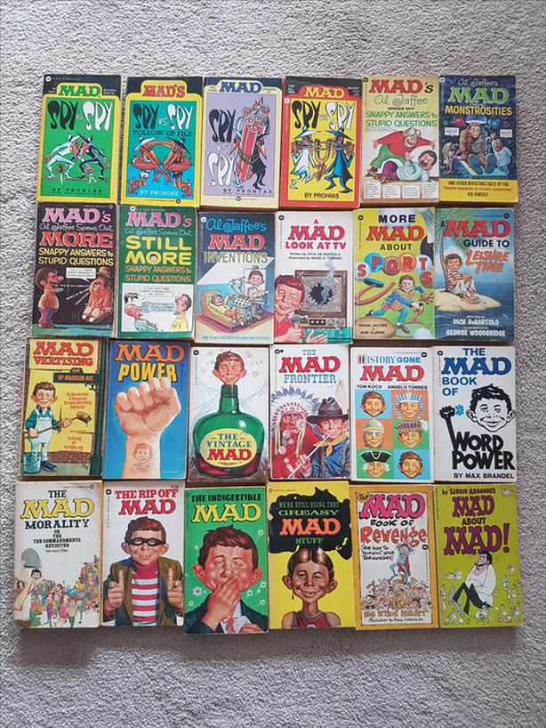 24 Mad Magazine Paperback Books from the 70s