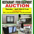 GIANT RESTAURANT FOOD EQUIPMENT AUCTION - THURSDAY - APRIL 19th @ 11 am