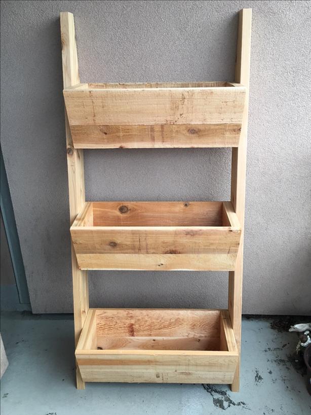 Ladder Cedar Planters
