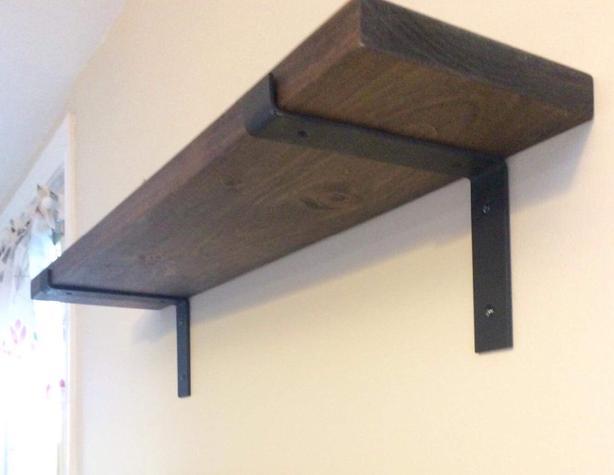Rustic wall mount shelves