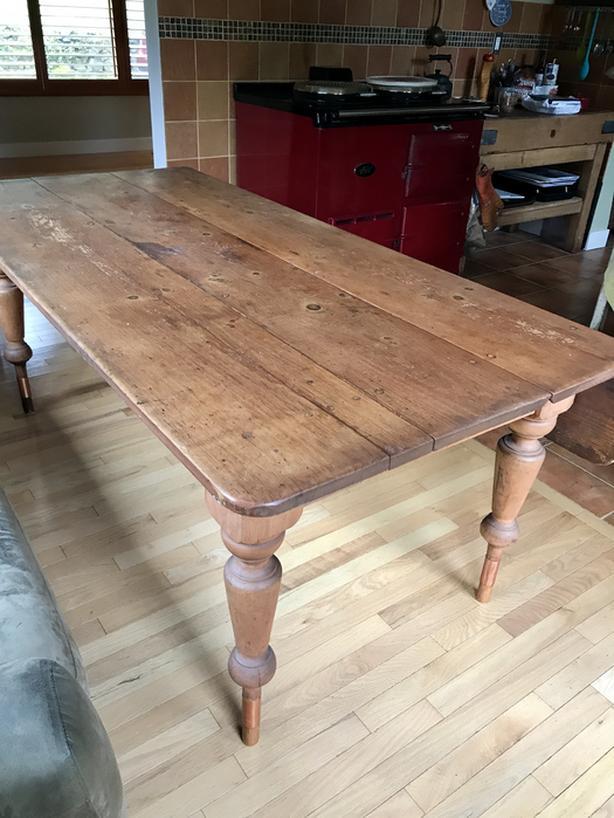 Eastern Townships Quebec Antique Pine Harvest Table