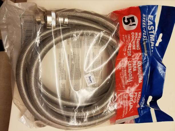 Washing Machine Connectors NEW Hot and Cold 5 Foot, unopened