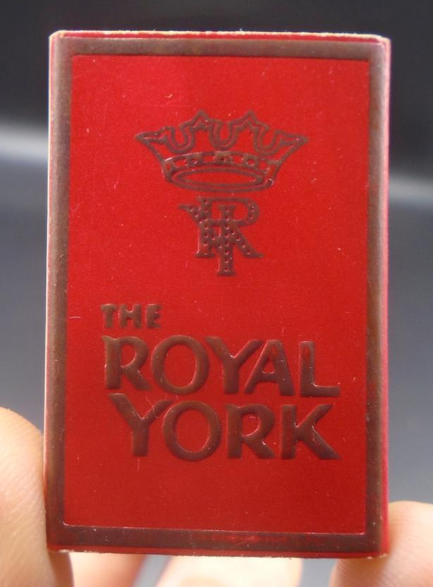 VINTAGE THE ROYAL YORK HOTEL TORONTO ONTARIO SAFETY MATCHES BOX