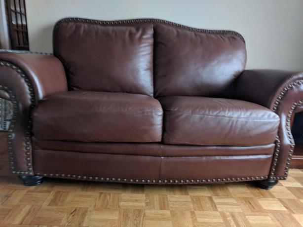 matching leather loveseats