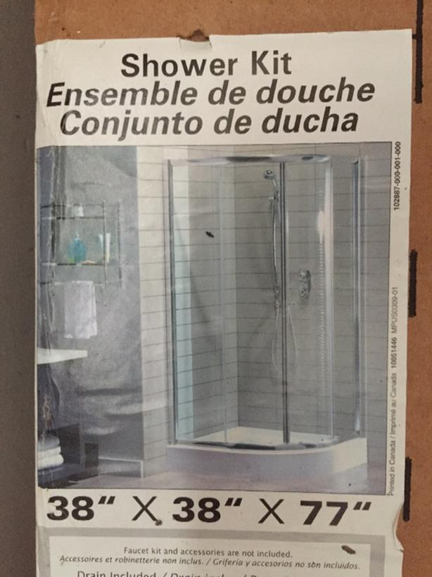 Glass shower kit