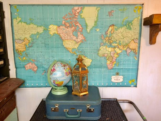 Large Paper World Map.Large Paper World Map Esquimalt View Royal Victoria